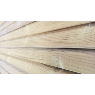 Thermowood Dubbel Blokprofiel 1 - 28 x 130 mm netto - per m?