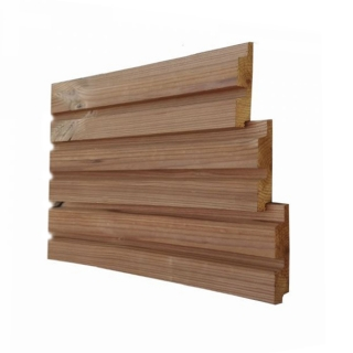 Thermowood Dubbel Blokprofiel 2 - 25 x 130 mm netto - per m?