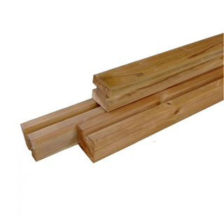 Thermowood gleufpaal 21 & 28 mm