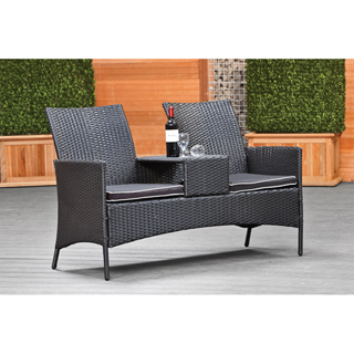 Wicker loveseat Foggia