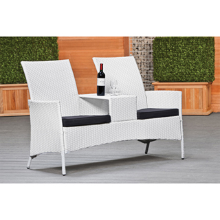Wicker loveseat Como